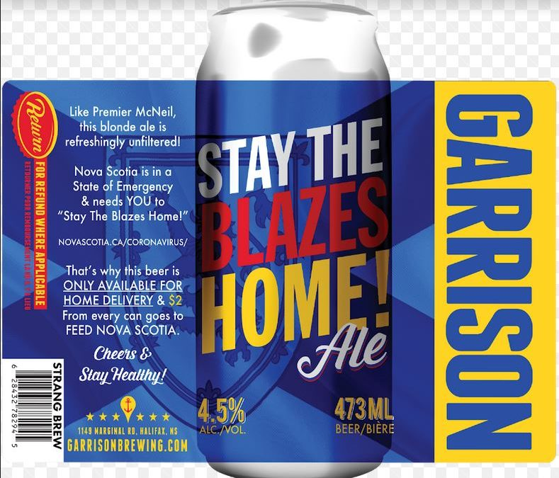 Brian Titus Makes Play On Premier's Message And Debuts 'Stay The Blazes Home Ale' – Helping To Keep 40 Staffers At Garrison Brewery On Payroll