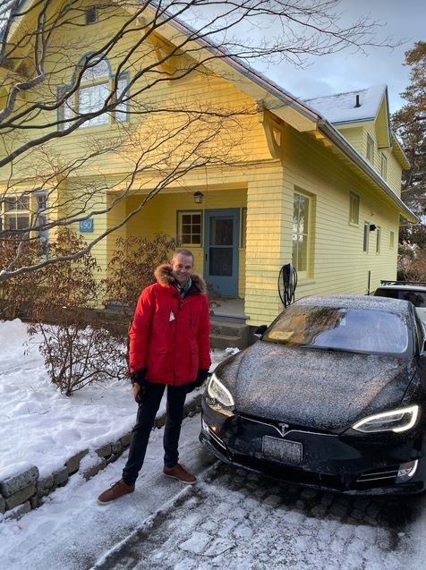 Halifax-Chester Realtor Piers Baker Commutes Around In A Tesla