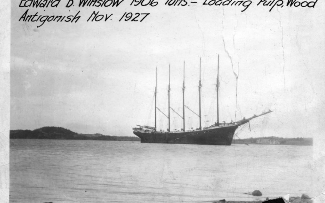A Maritime Photo Moment:  A Five-Masted Schooner In Nova Scotia In 1927, A Rarity Even During Age Of Sail