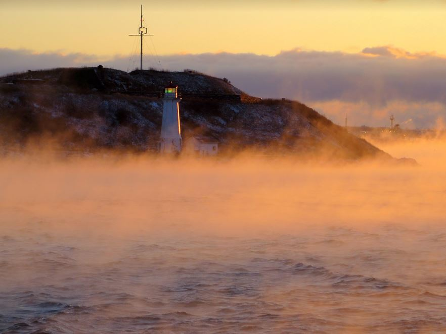 A Maritime Photo Moment: On A Winter Day Halifax Harbour Might Look Spooky – Why Is This So?