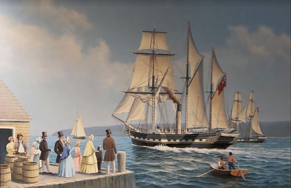 Art: J. Franklin Wright Painting Of 'Royal William' Yours For $28,000 — Or A Print For $100