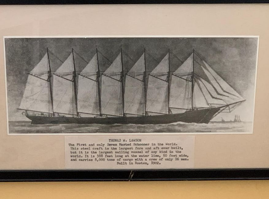 A Maritime Photo Moment: Jon Dimick's Chester Artwork Includes 1902 Photograph Of The World's First Seven-Masted Schooner