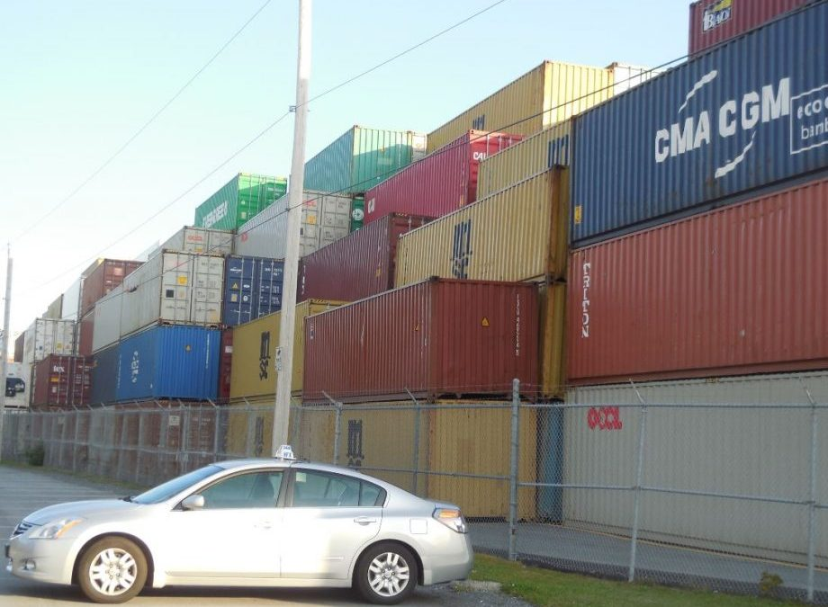 Halifax Port: Point Pleasant Park Enthusiasts Treated To Rare Sight: Container Boxes Stacked Five High